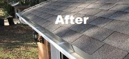 After gutter cleaning